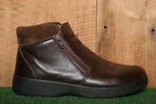 NAOT Brown Leather Double Front Zip Ankle Boots EUR 42 | US 11