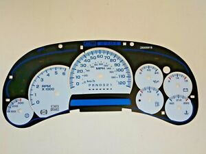 SS Style White Gauge Face Overlay for 2006 and 2007 Classic Edition GM Clusters