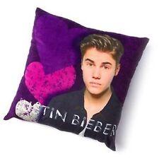 Justin Bieber Pillow Purple Decorative Pillow Bravado Officially Licensed Hearts