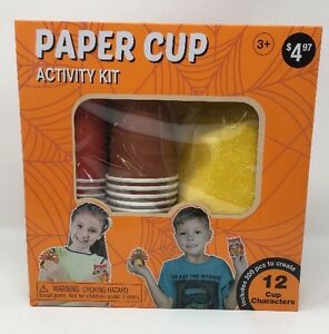 Halloween Paper Cup Activity Kit - Fall Craft