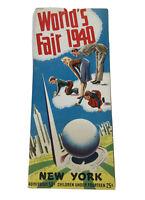 NEW YORK WORLDS FAIR 1940 SOUVENIR ADVERTISING INORMATION BROCHURE GUIDE VINTAGE