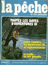 Revue  La pêche et les poissons No 429 Février 81