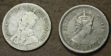 2 Silver British & Canada 10 Cent coins: 1965 & undated George V! cd168