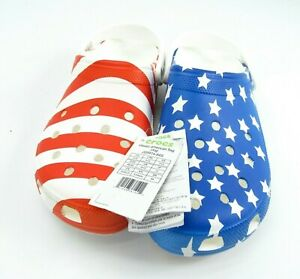 CROCS Classic American Flag Clog Water Friendly Ultra LightWeight Mens Size 13
