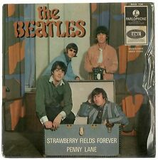 "THE BEATLES STRAWBERRY FIELDS FOREVER ORIG DIFF ISRAELI PS 7"" EP 1ST Yellow Parl"