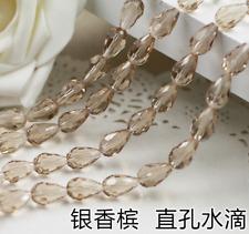 wholesa 30pcs 6X8mm glass Crystal Straight hole drop beads Handmade Jewelry