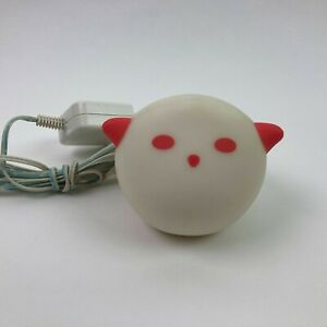 Ikea Spoka Ghost Cat Night Light w/ Charger Red Ears & Eyes Tested & Working
