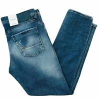 JACK & JONES Homme 'S Eric Coupe Fuseau Jeans Bleu Taille W32