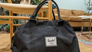 Herschel Supply Co black canvas tote w padded laptop sleeve as new!