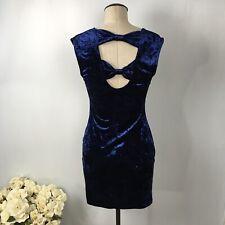XXI Velvet Women's Bodycon Blue Dress Sleeveless Size M