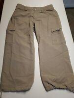 North Face Women's, Nylon Packable Hiking capri Pants taupe 10 *4