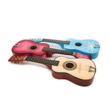 Kindergitarre Gitarre Musikinstrument Holzgitarre Metallsaiten Holz Plektrum neu