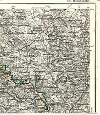 Feuchtwangen Haundorf Wildenholz 1913 Teilkarte/Ln. Larrieden Kreßberg Breitenau