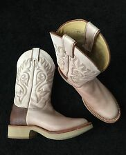 NEW JUSTIN COWBOY WESTERN BOOTS TEKNO CREPE OIL RESISTING WOMAN SIZE 7-1/2M