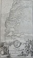 CARTE PLATTE GROND VANDE GLORIEUSE VELTSLAG BY HOCHSTEDT, DE LA FEUILLE, XVIII