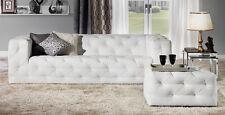 Design Luxus Lounge Sofa Landschaft Couch Polster Garnitur Leder Weiß SL25 NEU!