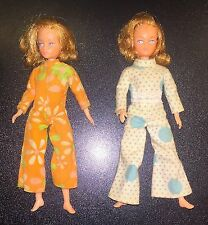 Vintage Little Miss Dollinkin Action Girl Lot of 2 Red Head Doll Figures