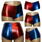 Ladies Metallic Harley Quinn Suicide Squad Fancy Disco Short Hot Pants Skirt