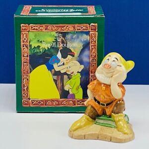 Snow White Seven 7 Dwarfs figurine Royal Doulton England Walt Disney box Doc vtg