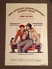 The Sting 1973 Original Rolled Movie Poster Paul Newman Robert Redford Amsel Art