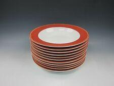 Lot of 11 Dansk China JACQUARD-RED Rim Soup Bowls EXCELLENT