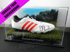✺Signed✺ DUSTIN FLETCHER Football Boot PROOF COA Essendon Bombers 2018 Guernsey