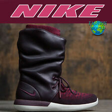 NIKE Women's Size 7 Roshe Two Flyknit Hi Boots 861708-600 MSRP $225 Burgundy