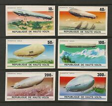 Burkina Faso #395-97/C234-36 VF MNH - 1976 10fr to 300fr Zeppelins, Airships