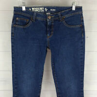 Mossimo Supply Skinny Womens Size 9 Stretch Blue Medium Wash Low Rise Slim Jeans