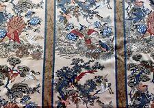 Crimson//Orange//Blue//Fawn Jonelle 'Forest Birds' Cotton Fabric FQ 24X 22 Inches