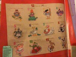 (X9) Margaret Sherry 12 Days Of Xmas Carol Sampler Christmas Cross Stitch Chart