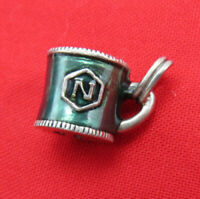 Judith Jack Sterling Silver Bracelet Charm Cup Enamel Nordstrom Marcasite 97p