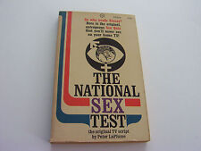 THE NATIONAL SEX TEST  1966  PETER LA PLUME  1ST ED.  ORIGINAL TV SCRIPT  FINE-