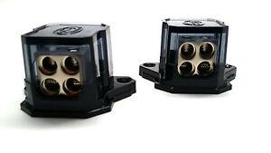 2 Stinger Select 4 8 AWG Gauge Power Ground 4 Way Distribution Blocks SSDB448
