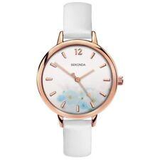 Sekonda Ladies Editions Watch White Strap White & Floral Design Dial 2623
