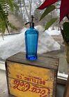 Vintage Brilliant Blue C.C.B. Co. (Coca Cola Bottling Co.) Seltzer Bottle
