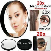 20X Magnifying Make Up Mirror Handheld Eyebrow Tweezing Eye Makeup Pocket Vanity