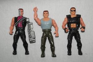 Kenner Carolco 3 Action Figurines Terminator Schwarzenegger