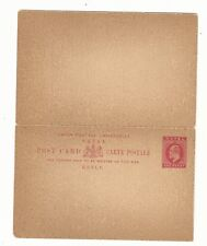 Natal: Postal stationery year 1902 with response new. NL08