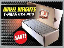1 Box Wheel Weights 1/4 Oz Stick On Adhesive Tape 156 Oz 624 Pieces