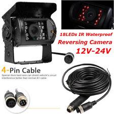 4Pin Heavy Duty RV Truck Trailer IR Waterproof Reversing Rear View Camera 12-24V