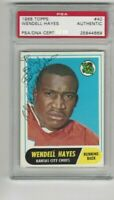 1968 Topps Football Wendell Hayes   Autograph Certified by PSA/DNA as Authentic