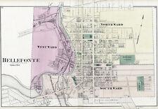 1874 Map of Bellefonte Centre County Pennsylvania