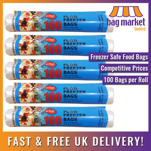 """Large 12"""" x 18"""" Clear Food Freezer Bags on a Roll!   Fruit/Veg/Meat/Storage/Poly"""