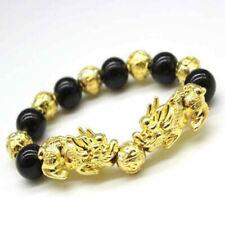 Men Feng Shui Black Obsidian Alloy Wealth Bracelet Quality Original Lover Gift