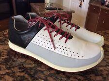 ECCO Biom 46 12-12.5 Hydromax Yak Leather Hybrid 2 Golf Shoes. White/Black