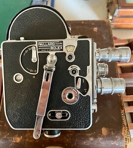 Vintage Bolex Paillard H-8 8Camera With 4 Lenses