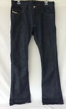Diesel Ruky Mens 31x34 (32x36 Actual) Boot Cut Jeans Dark Wash 0088Z Made Italy