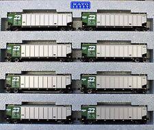 KATO 1064650 N Scale BURLINGTON NORTHERN Protein Gondola 8 Car set #1 106-4650