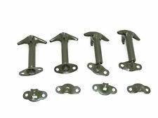 NEW HOOD BONNET LATCH KIT MILITARY GREEN SET OF 4 WILLYS FORD JEEP